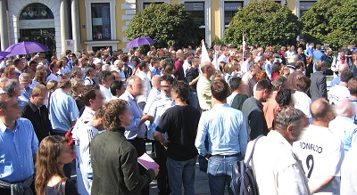 29.9.2006: Demonstration am Wittelsbacher Platz