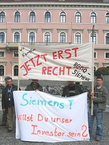 6.10.2006: Demonstration am Wittelsbacher Platz